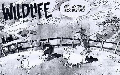 Australians and their sheep...